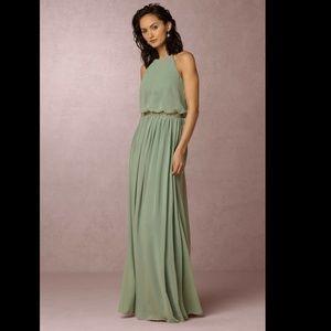 ANTHROPOLOGIE BHLDN $230 Sea Glass Alana Dress 4